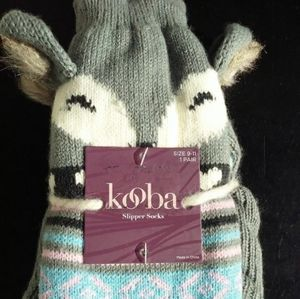 Kooba Slipper Socks Sz 9-11